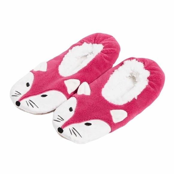 Vera Bradley Foxwood Fox Slippers, Pink, 7-8